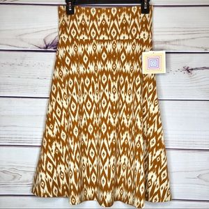Tribal Boho Azure Skirt NWT by LulaRoe